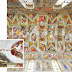 How was the Sistine Chapel's ceiling painted?