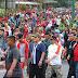 Ketika Gubernur Lampung Ir. Arinal Junaidi Jalan Sehat di Liwa Lampung Barat