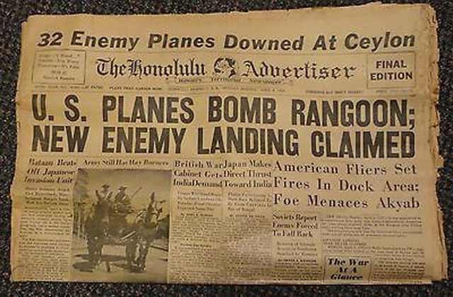 Honolulu Advertiser, 6 April 1942 worldwartwo.filminspector.com