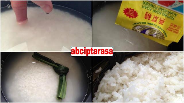 Tips Memasak Nasi Putih Pulen Dengan Agar-agar!!!