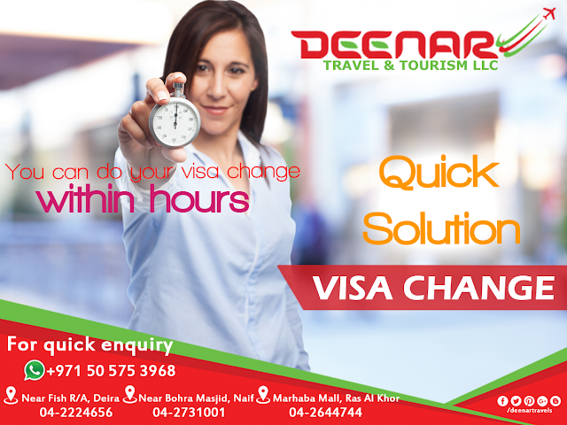 deenartravels, dubai visa change