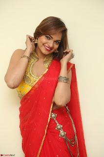 Actress Ashwini in Golden choli Red saree Spicy Pics ~  056.JPG