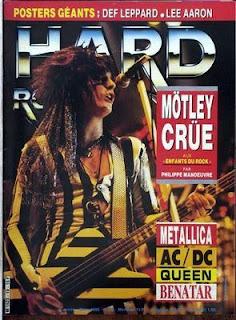 Couverture du Hard Rock Magazine France 1986 avec Motley crue