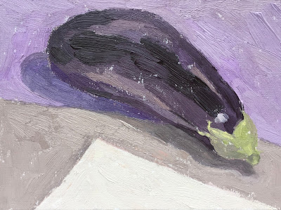 Daily Painting #8 'Aubergine' 6×8″ Oil on Board