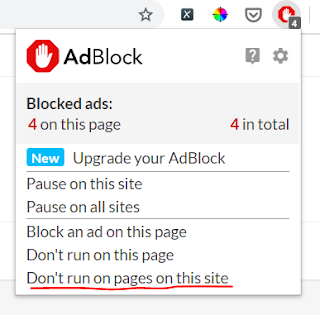 How do I turn off my Ad Blocker on website? Disable Ad block for a website