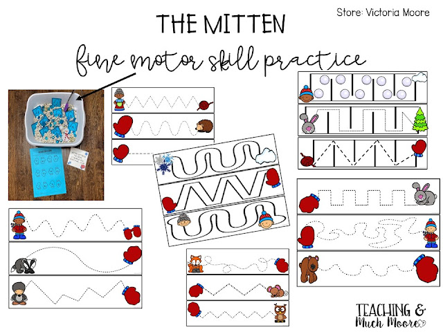 The mitten fine  motor skill activities