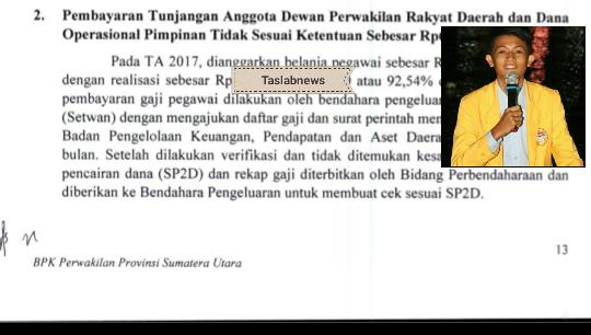 Hasil audit BPK, Insert Saiful Rangkuti.