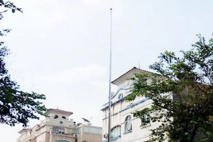 Tiang Bendera pesanan Perhimpunan Penghuni Perumahan dan Perkantoran Senayan Jakarta Selatan