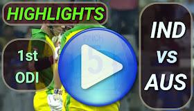 IND vs AUS 1st ODI 2020