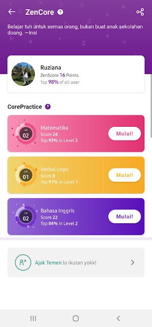 Fitur ZenCore yang ada di aplikasi Zenius bisa meningkatkan kemampuan dan kecerdasan otak