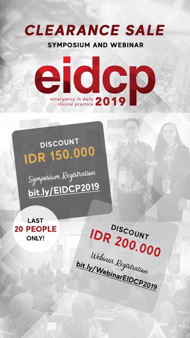 Only SEVEN DAYS away from our most awaited event: EIDCP 2019! We are still open for last-minute registration