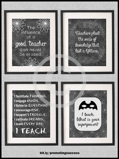 printable posters for teachers gift ideas