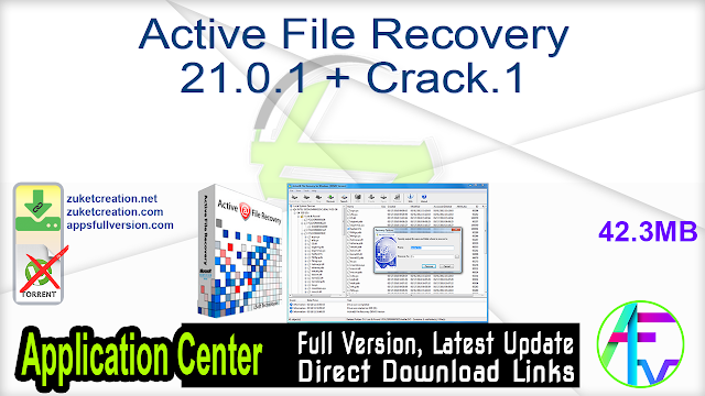 Active File Recovery 21.0.1 + Crack