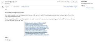 Artikel copas yang dihapus oleh google dari mesin telusur