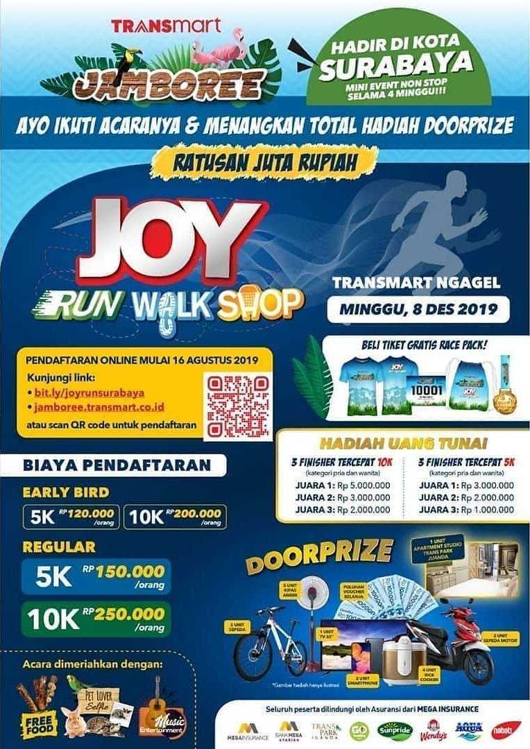 Joy: Run Walk Shop - Transmart Ngagel Surabaya • 2019
