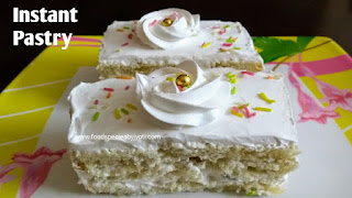 No bake cake, Eggless cake without oven, No bake pastry,
