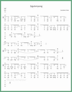 not angka lagu sigulempong lagu daerah sumatera utara