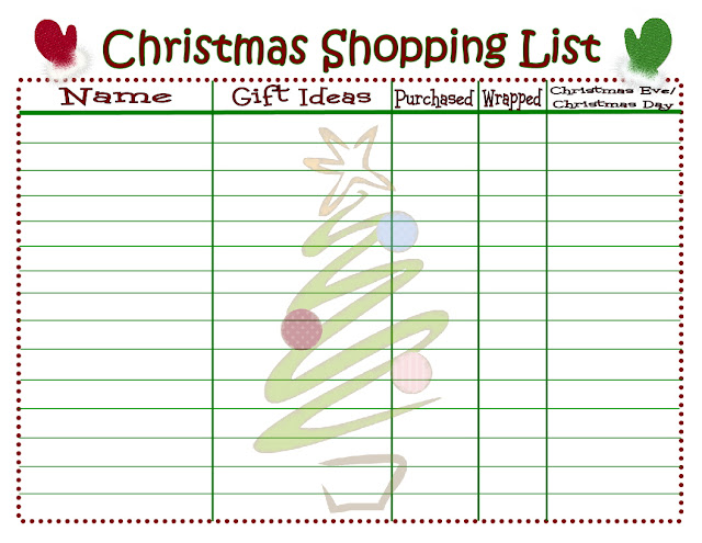 Christmas Shopping List {Printable} - Mom On Timeout