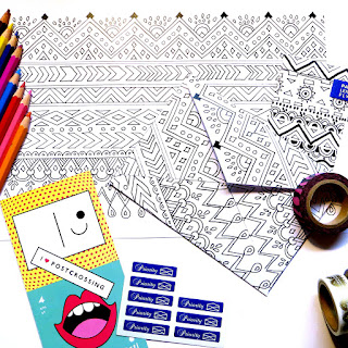 Printable Coloring Envelope FREEBIE