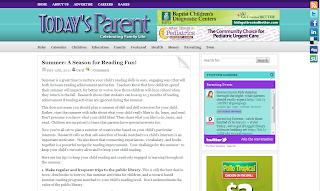 Screenshot of Today's Parent article