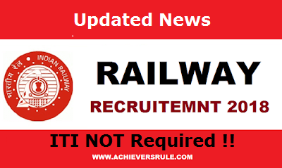 Good News for Railway Group – D Aspirants –  ITI Not Mandatory