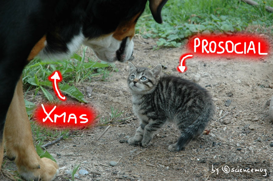 Prosocial vs Christmas (by @sciencemug)