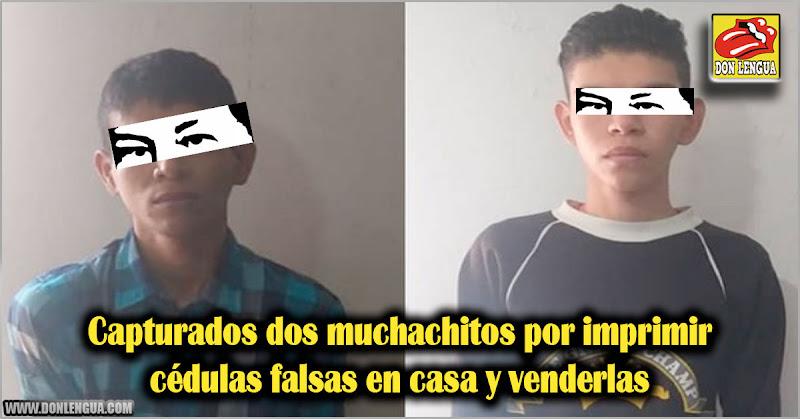 Capturados dos muchachitos por imprimir cédulas falsas en casa y venderlas