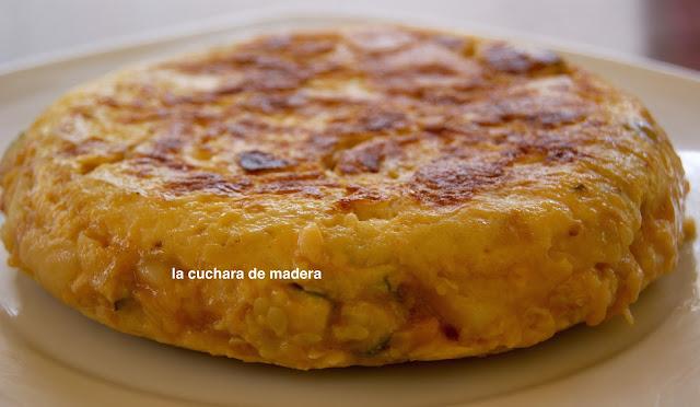 Tortilla Española Con Cebolla Y Calabacin