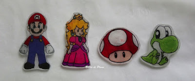 Bulles de Plume DIY Broches en plastique dingue Mario
