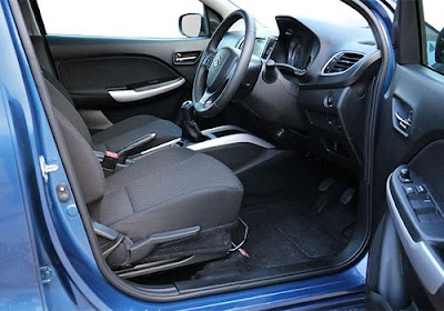 New 2016 Maruti Suzuki Baleno first row seat