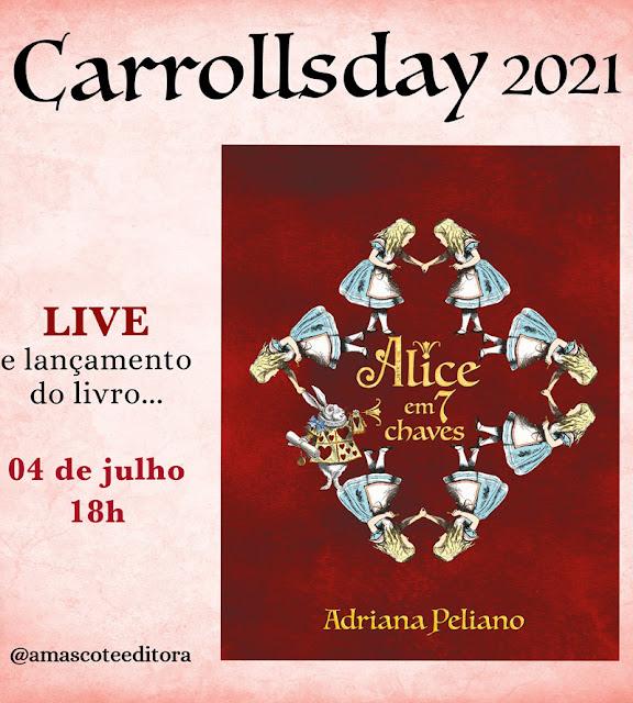 """Lançamento do livro """"Alice em7 chaves"""" de Adriana Peliano"""