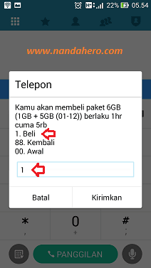 paket three 6gb murah