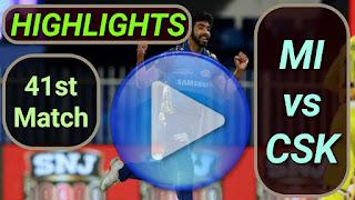 MI vs CSK 41st Match