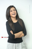 Telugu Actress Mishti Chakraborty Latest Pos in Black Top at Smile Pictures Production No 1 Movie Opening  0033.JPG