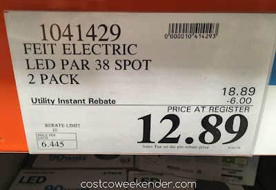 Deal for the Feit Electric LED 90 Watt Par 38 Spot Replacement at Costco