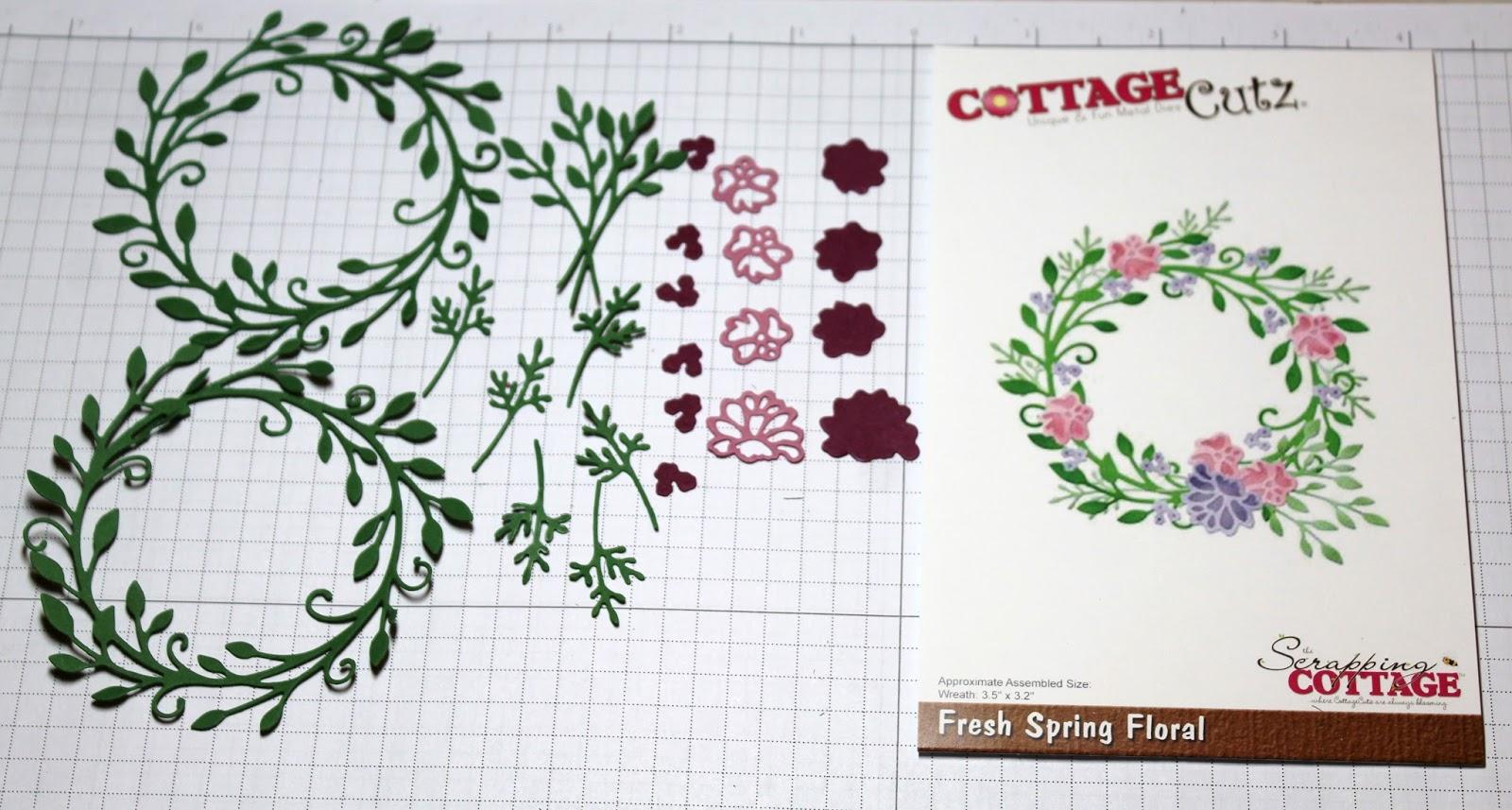 Cottageblog Fresh Spring Floral Wreath New Die
