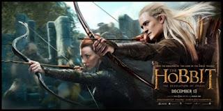Póster de El Hobbit: la desolación de Smaug, Legolas y Tauriel