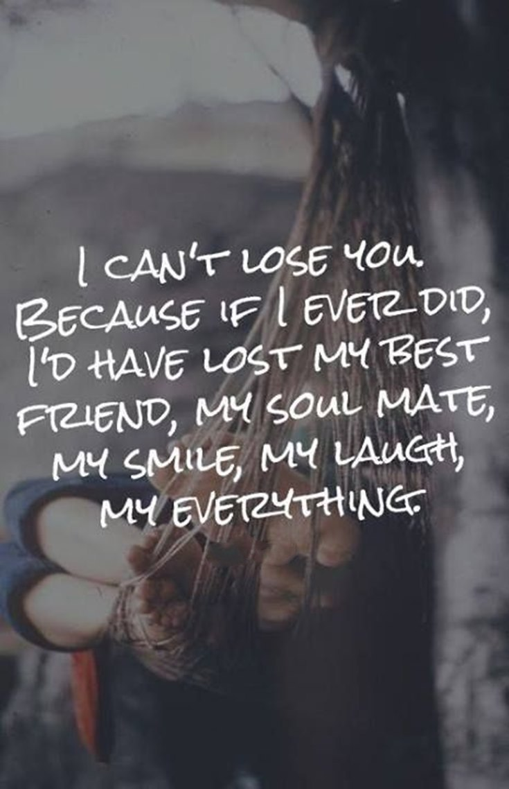 i can not lose you