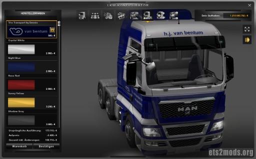 van Bentum skins for MAN, Scania and Volvo