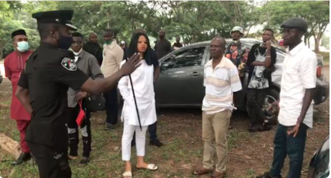 Just In: IPOB members Storm Abuja federal high court for Leader trial