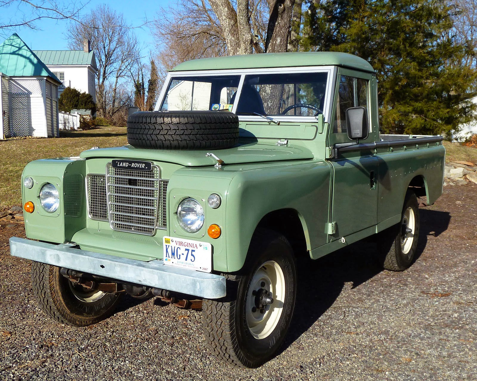 1973 land rover pick up truck auto restorationice. Black Bedroom Furniture Sets. Home Design Ideas