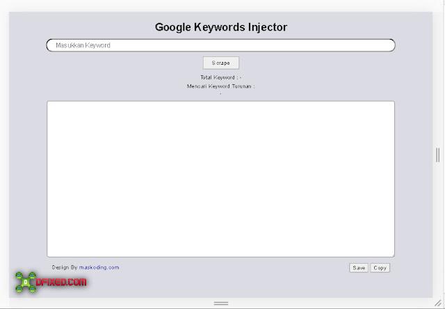keyword turunan LSI dengan Google Keywords Injector v.2