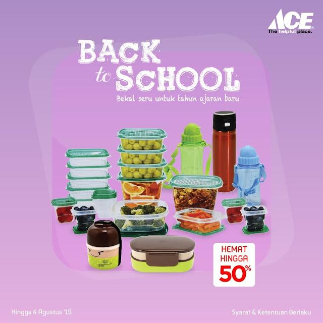 #AceHardware - #Promo Back to School Bisa Hemat Hingga 50% (s.d 04 Agustus 2019)