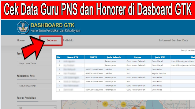 Seluruh Guru Honorer WAJIB CEK  ! Sudahkah Nama Anda Sudah Terdaftar  Di Dashboard GTK Kemdikbud TERBARU