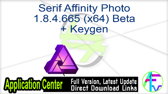 Serif Affinity Photo 1.8.4.665 (x64) Beta + Keygen