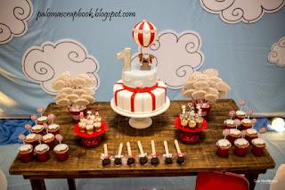 Mesa de doces Festa volta ao mundo