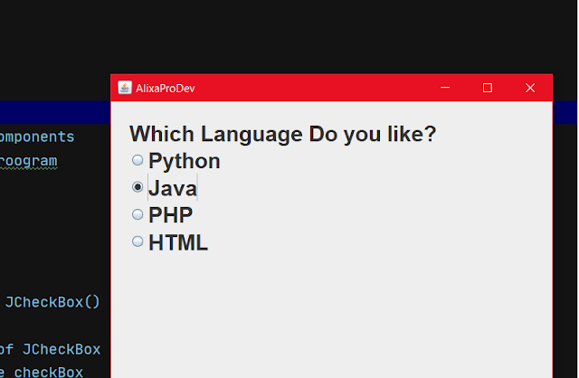 radion Button in java