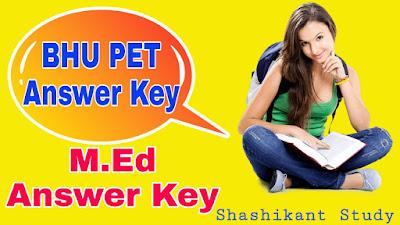 BHU-M.Ed-Answer-Key