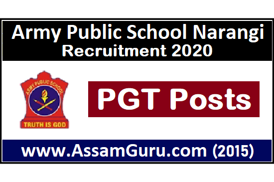 Army Public School Narangi Job 2020