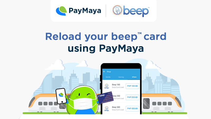 PayMaya collabs with beep for a contactless way to load their cards